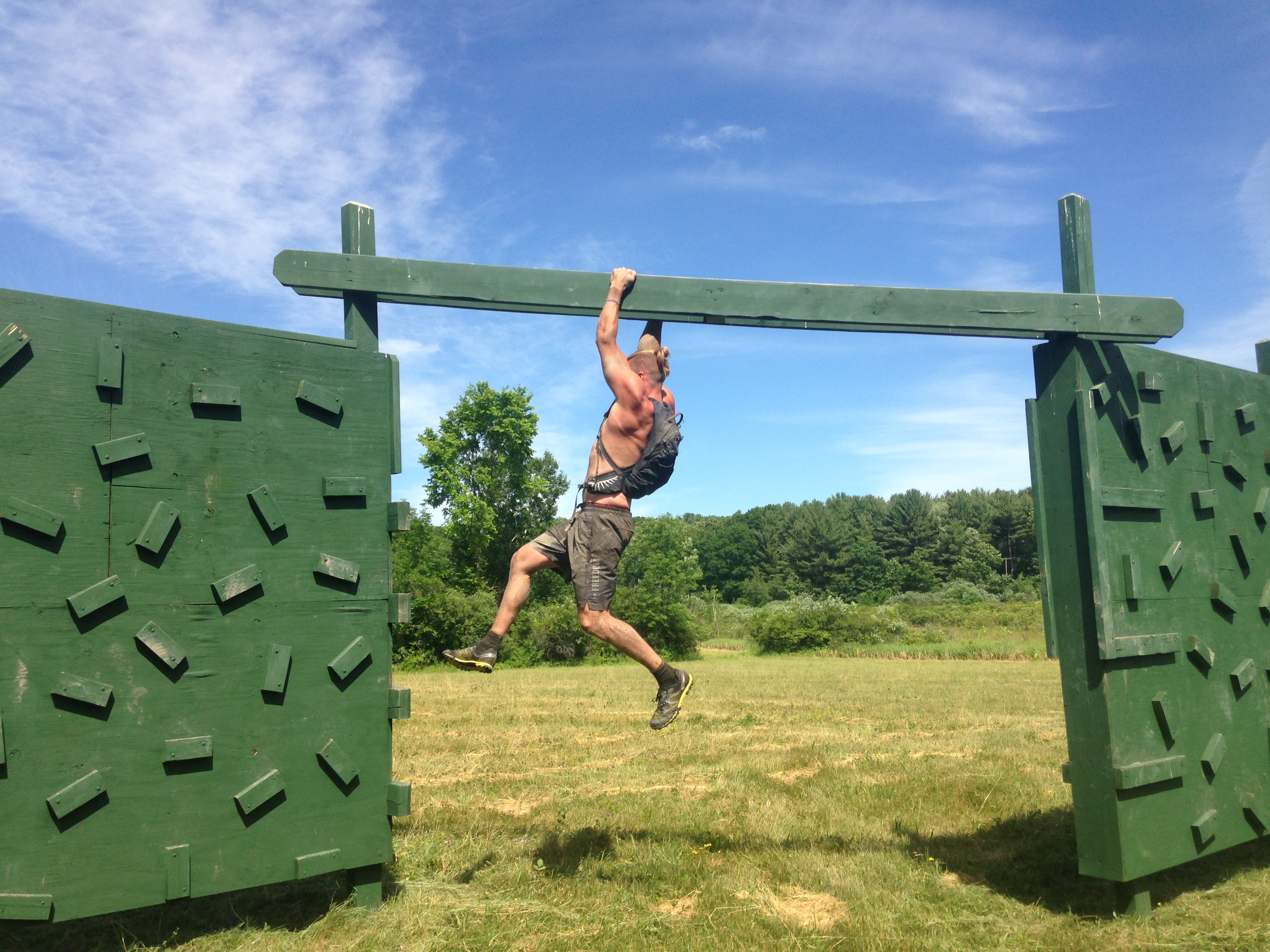 Neil Cary completing on his laps at Viking OCR. He would complete 36 miles over two days.