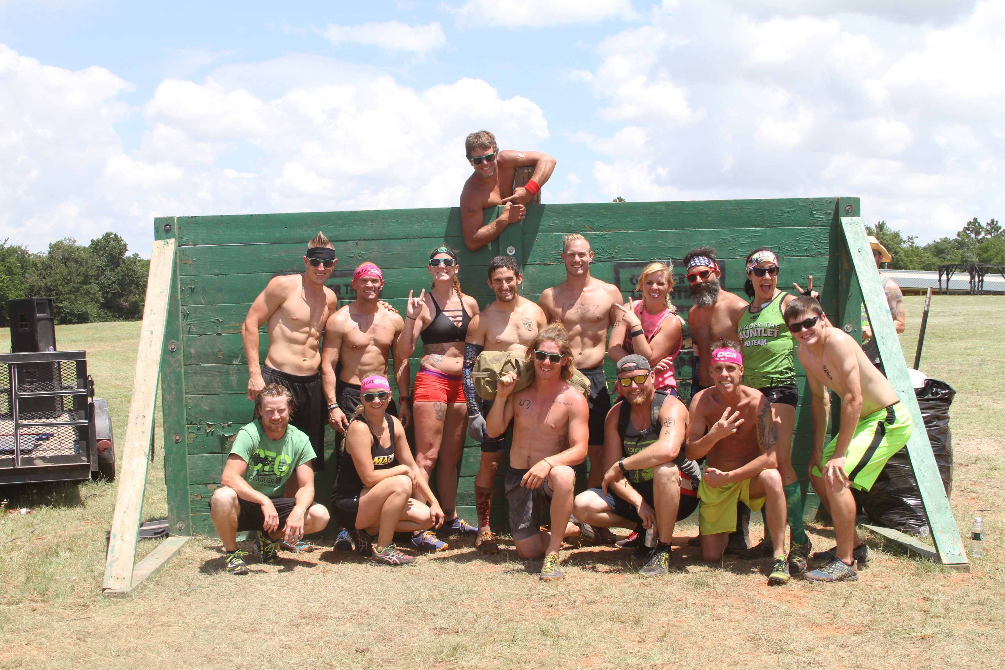 The Conquer The Gauntlet Pro Team and friends join Evan for the final 4 miles of OCR America.