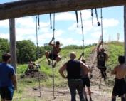 Rope climb dirt runner